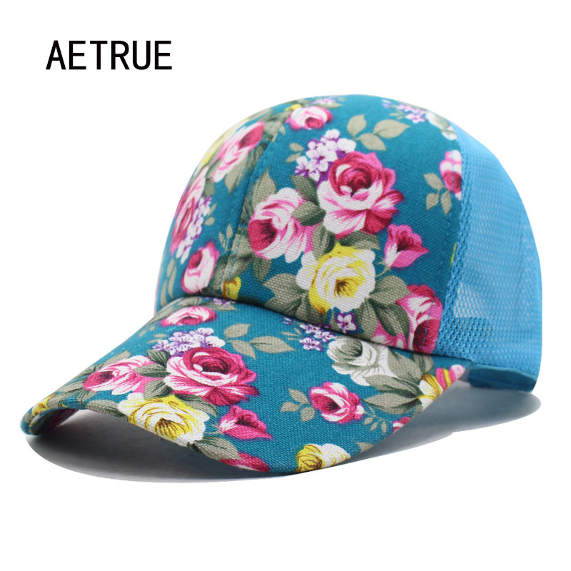 Baseball Cap Women Snapback Caps Hats For Women Girls Casquette Brand Mesh Cap Bone Gorras Floral Lady Fashion Sun Hat Caps 2018