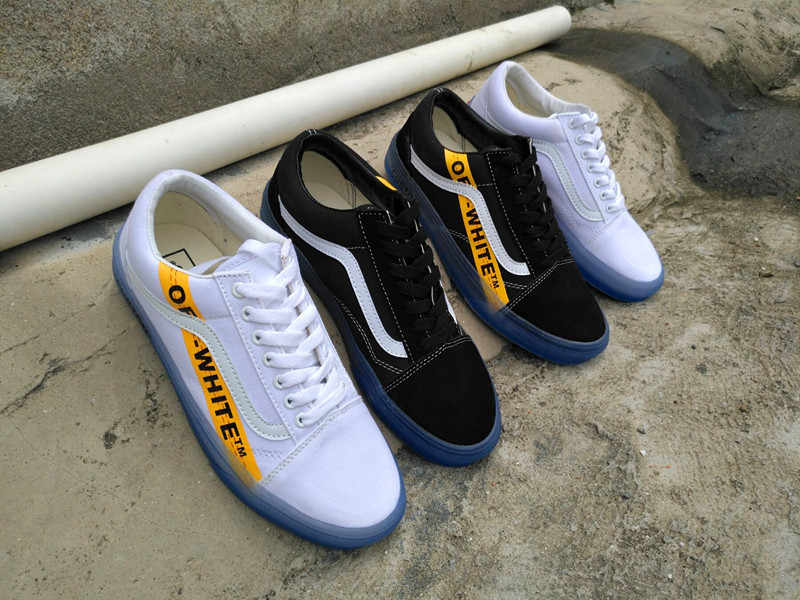 88bc031cfbada8 ... VANS CE Y62 Vans Old Skool X Off-White Classic Men and Womens Sneakers  canvas ...