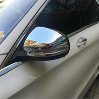 WELKINRY car auto cover styling For Benz E-Class 2016 2017 2018 ABS chrome side wing fender rearview door back mirror cap trim