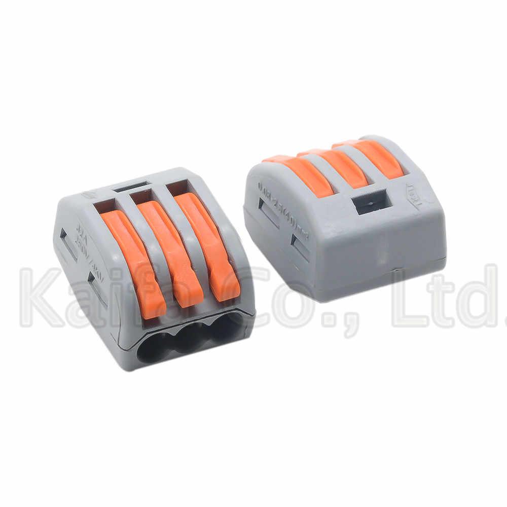 Wago, тип 222-412 222-413 222-415 компактный проводной соединитель-проводник клеммной колодки с рычажком 0,08-2.5mm2 214 218 SPL-2 3