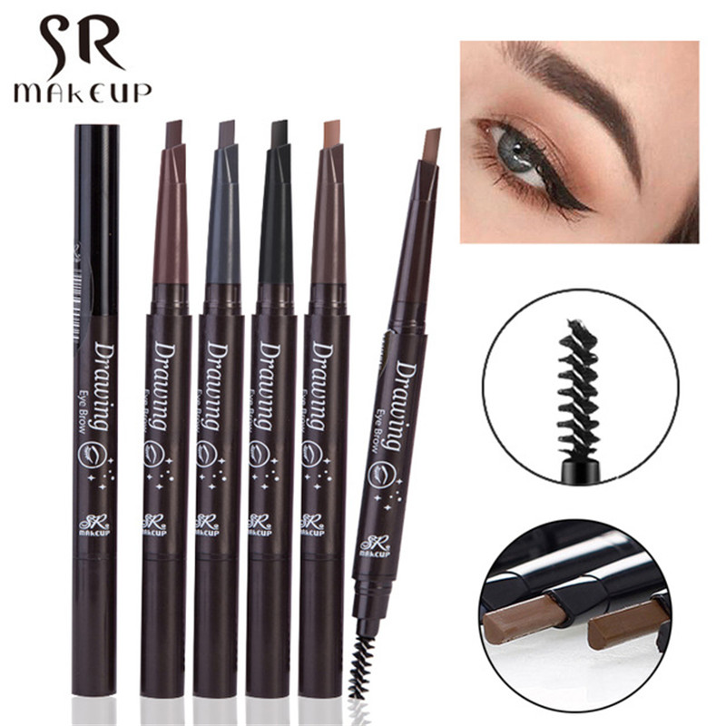 1PC Professional Eye Brow Tattoo Pen Long Lasting Waterproof Double-ended Coffee Dark Brown Color Eyebrow Pencil Cheap Makeup