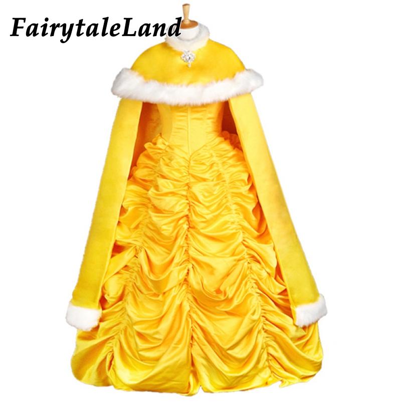 vente limitée super mignon code de promo € 34.74 |Belle et la bête Belle cape robe de princesse costume d'halloween  pour les femmes adultes cape de princesse fantaisie cosplay Belle robe cape  ...