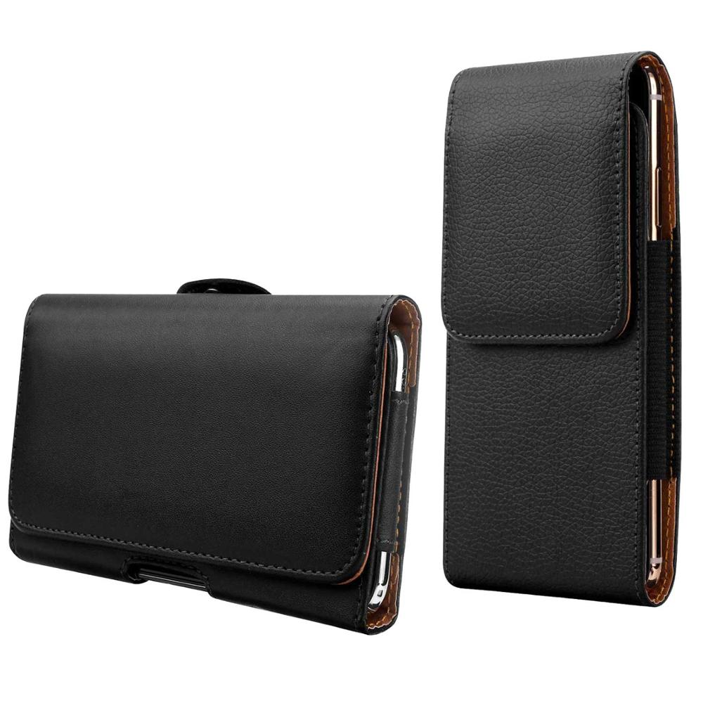 <font><b>Belt</b></font> Clip Leather Phone Holster Pouch Carrying Case for <font><b>iPhone</b></font> <font><b>XS</b></font> Max XR <font><b>X</b></font> 7 8 Plus 6 6s 5 5S SE 5C 4S Waist Bag Cellphone Cover image