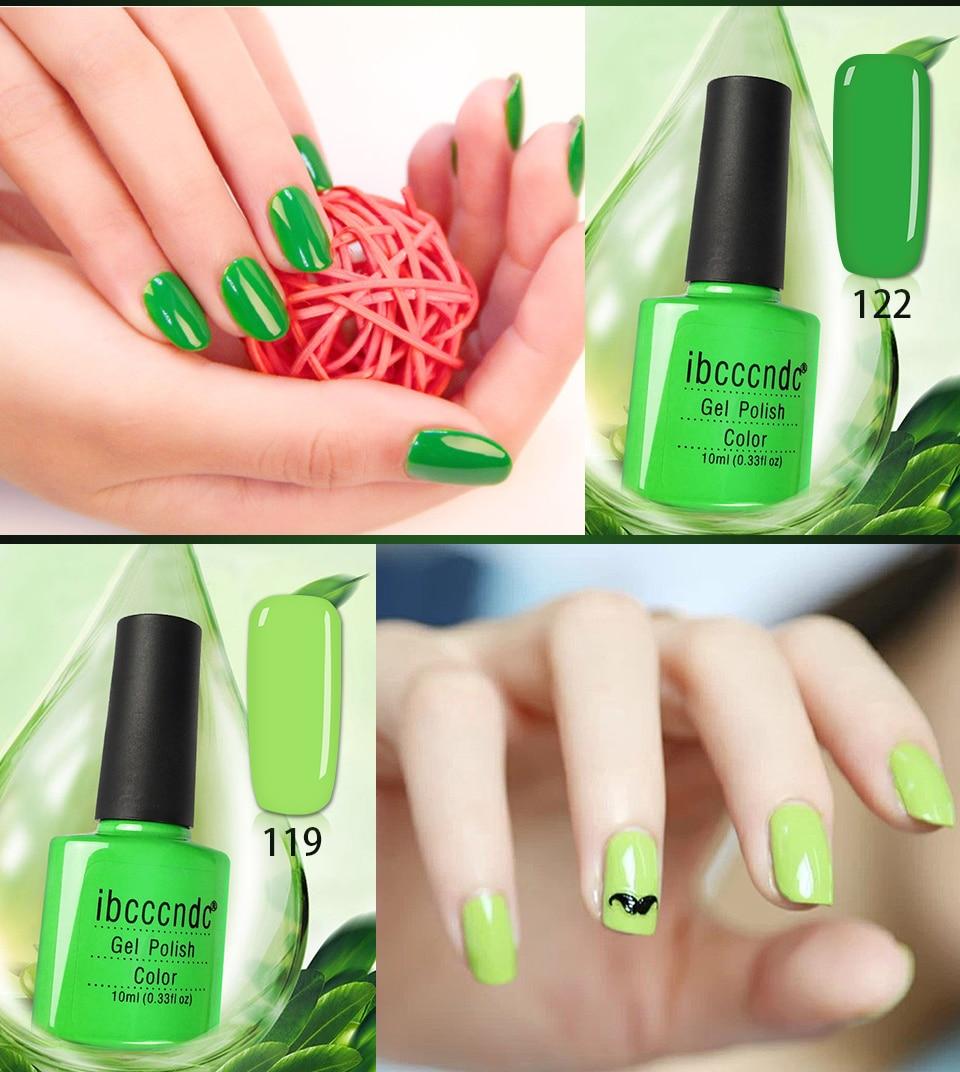 10 ml verde Serie UV Esmaltes gel de uñas lámpara LED gel lacquer ...