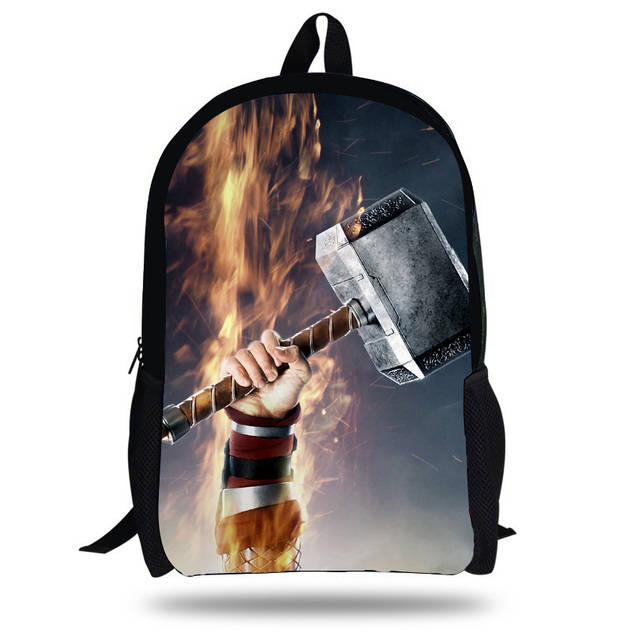 e7c9a190bed7 16-inch Thor School Bag Boy Backpack Child Hero Design Cool Cartoon Kids  School Backpack Thor Print Mochila Menino
