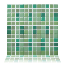 Cocotik 10x10 Vinyl wall tile mosaic kitchen DIY Self-adhesive peel and stick for home decoration-10 Pcs