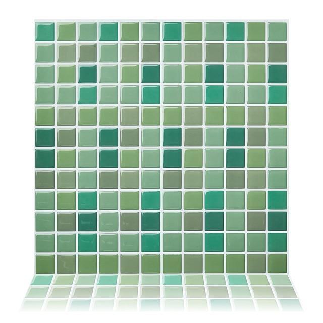 Cocotik 10 X10 Vinyl Wall Tile Mosaic Wall Kitchen Tile Diy Self
