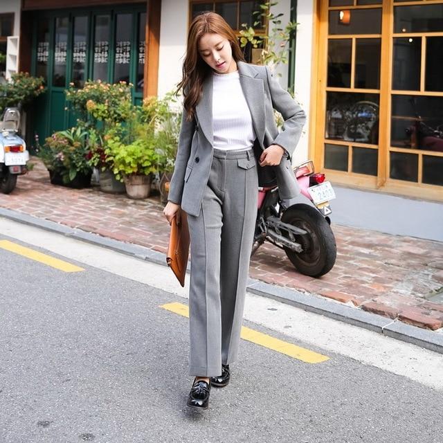 95ac50799dd31 Fashion Casual Blazer Women Business Suits Formal Pant Suits Work Uniforms  Ladies Pant and Jacket Sets