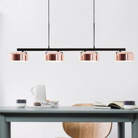 Barra nordic sala de jantar sala estar pingente lâmpada criativo longo mesa jantar luzes pingente personalidade pós moderna zjm3131