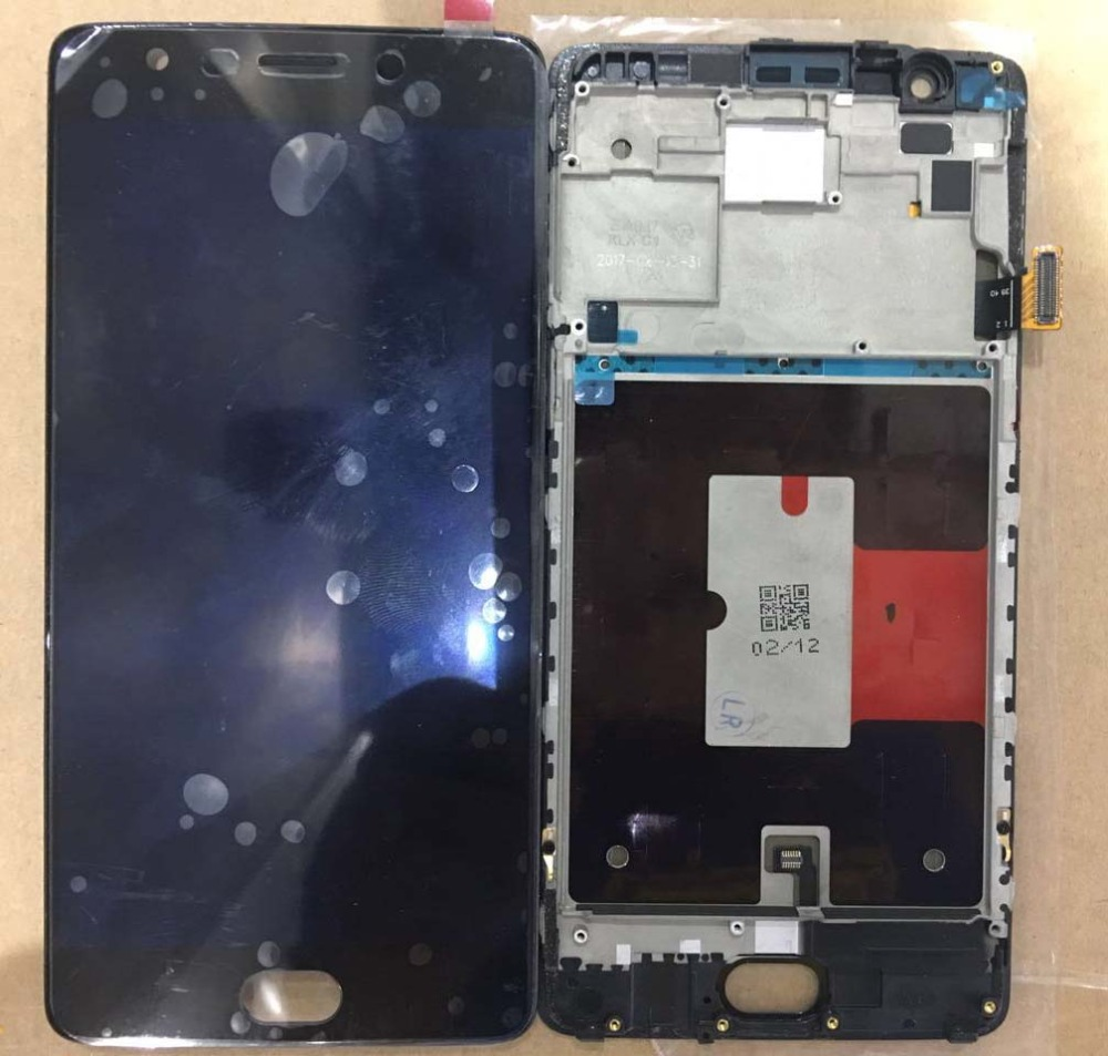 Tested Original LCD screen display touch panel digitizer with frame For oneplus three oneplus 3 A3000