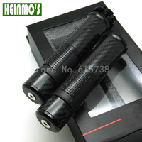 High Quality Universal CNC Rizoma New Black 7 8 Carbon Fiber Gold Motorcycle Handlebar Hand Grips
