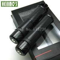 High Quality Universal CNC Rizoma New Black 7 8 Carbon Fiber Gold Motorcycle Handlebar Hand Grips