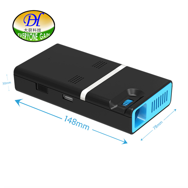 Everyone Gain Mini Android Projector with Touch Screen WIFI LED DLP HD Projector Built-in lithium Battery Proyector A380