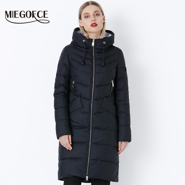 90fb40693ec 2018 MIEGOFCE Новая зимняя женская куртка модные женские парки теплое  зимнее женское пальто качественное био-