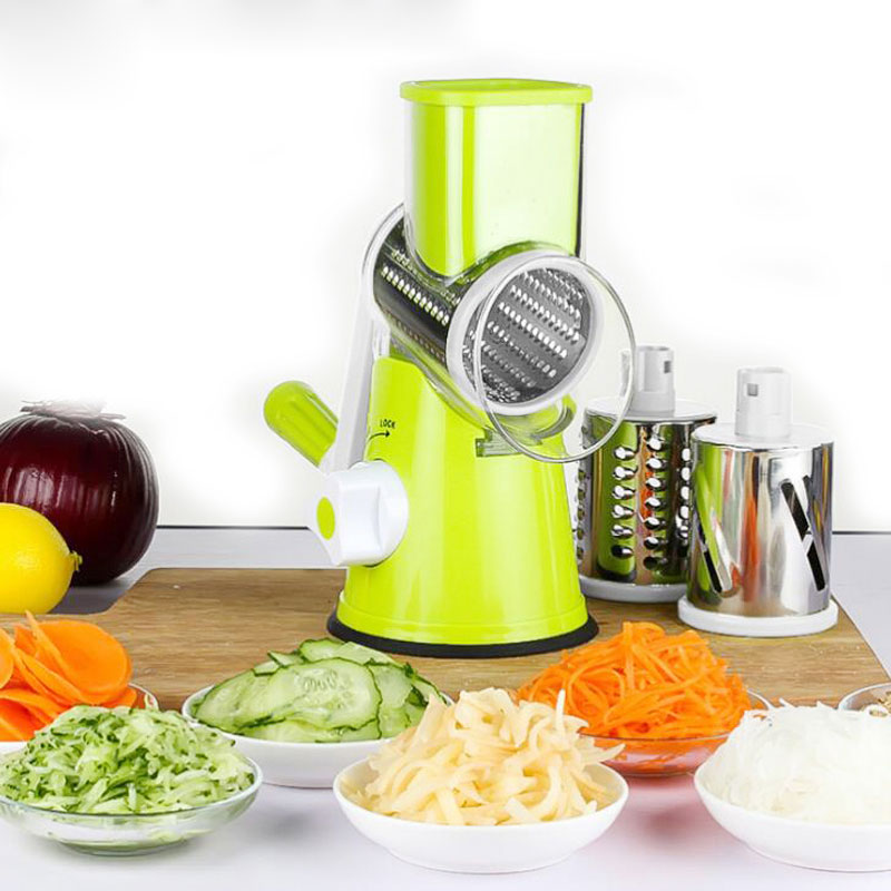 Multi Manual Slicer Vegetable Fruit Cutter Round Mandoline Choppers Cheese Grater Carrot Potato Julienne Blades Kitchen Tools