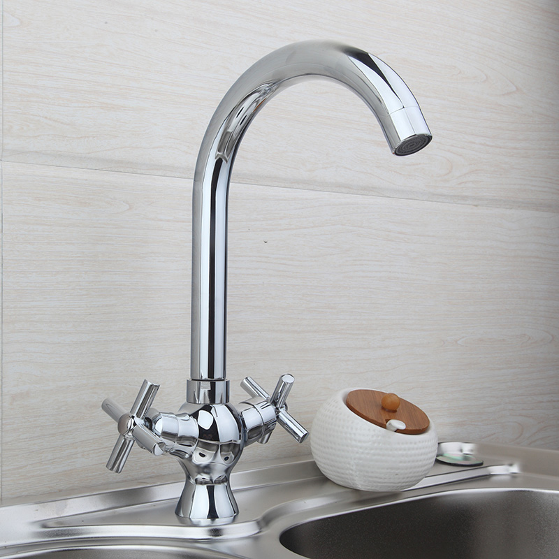 Chrome finish Bathroom Kitchen Basin Sink Mix Tap Faucet JN8509