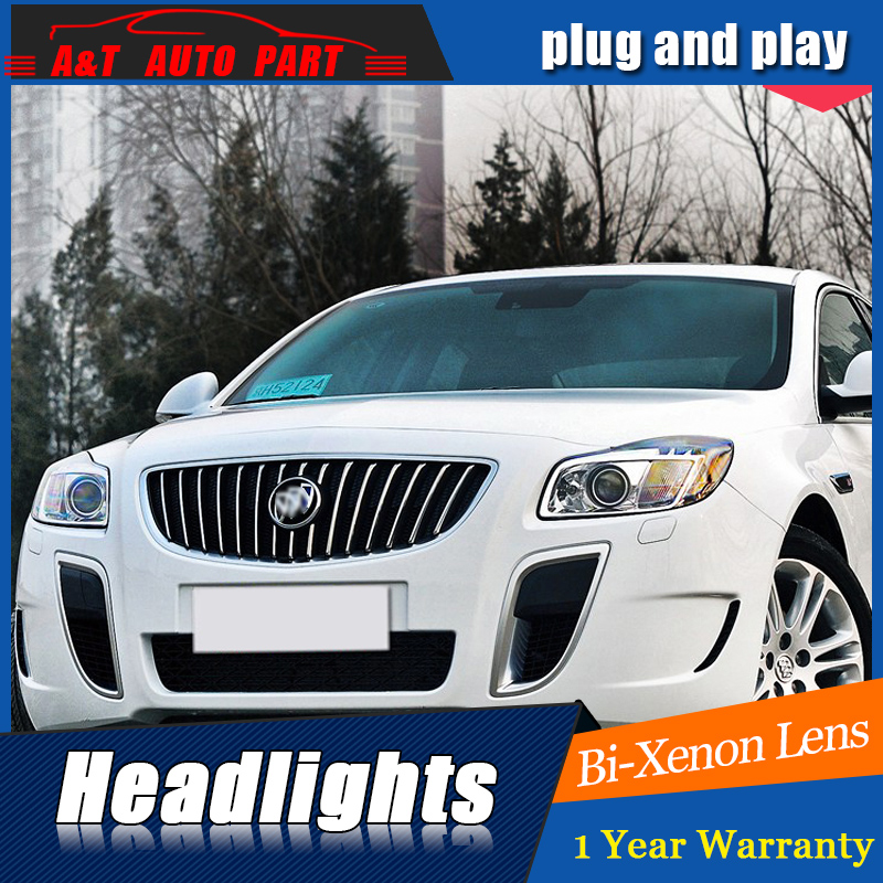 Styling For Buick Regal headlight assembly For Opel Insignia LED head lamp Angel eye led DRL front light H7 with hid kit 2pcs. rockeybright 1set all in one n1 h7 led headlight fog head lamp kit with 2pcs h7 led adapter for the new jetta for the new bora