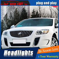 Styling For Buick Regal headlight assembly For Opel Insignia LED head lamp Angel eye led DRL front light H7 with hid kit 2pcs.