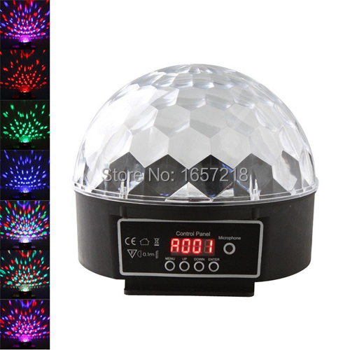 ФОТО DMX512 Mini LED Stage DJ Light RGB full color Crystal Magic Ball Effect light 6CH DMX 512  Disco  Party Stage Lighting projector