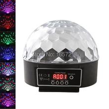 Dmx512 Mini LED DJ de la etapa luz RGB full color mágico cristalino efecto bola de luz 6CH DMX 512 etapa del partido del Disco proyector de iluminación