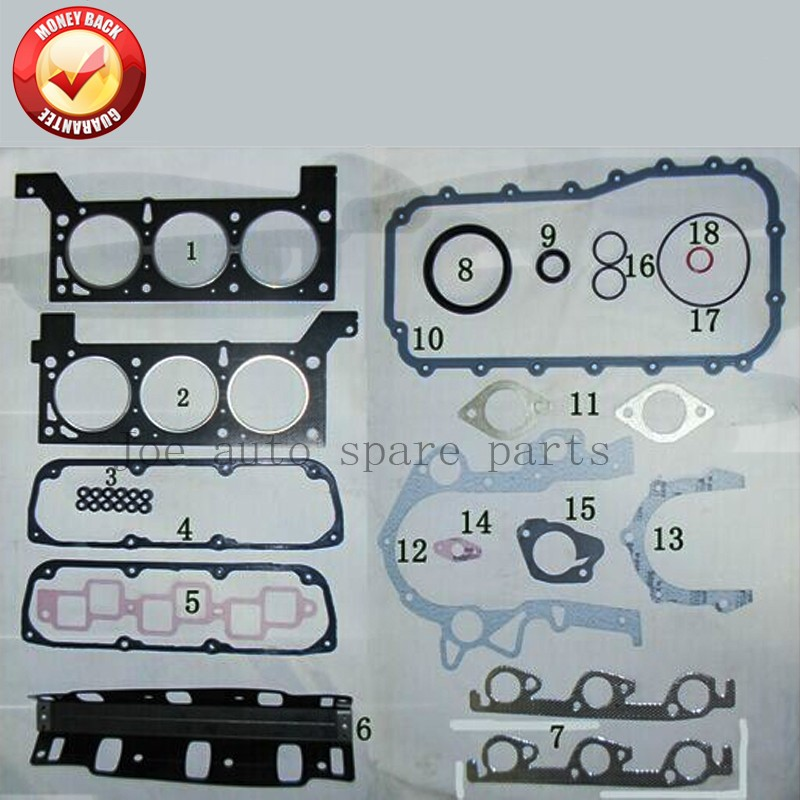 EGA Engine complete Full gasket set kit for Dodge Caravan III 3.3L Chrysler Voyager IV III 3.3L 3301cc 00-08 50233300 04882159AC