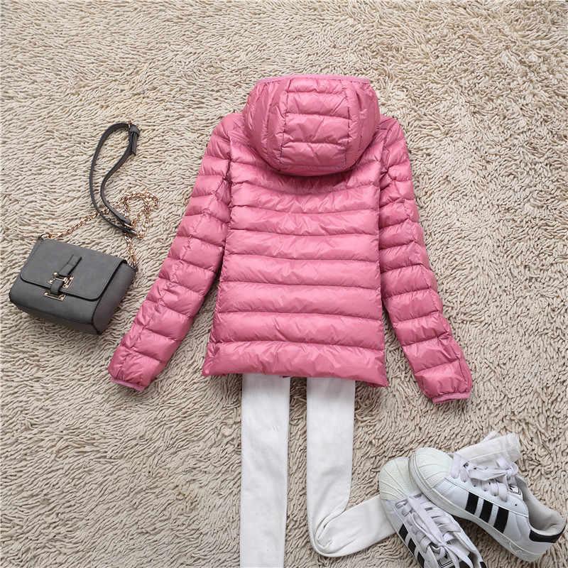 Civichic Горячие Модные женские теплые Sleek пальто женские короткие с капюшоном зимние Гага Подпушка верхняя одежда мягкий ультра легкая зимняя куртка-пуховик S-XXXL dc502