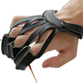 1pcs 3 Finger Archery Protect Pull Bow Arrow Leather Glove For Shooting Hunting Fingers Protector