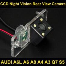 Водонепроницаемый 4 светодиодных вид сзади автомобиля Камера Обратный Парковка Камера для Audi A6L A6 A8 a4 a3 q7 s5 автомобиля обратный Камера 8036led