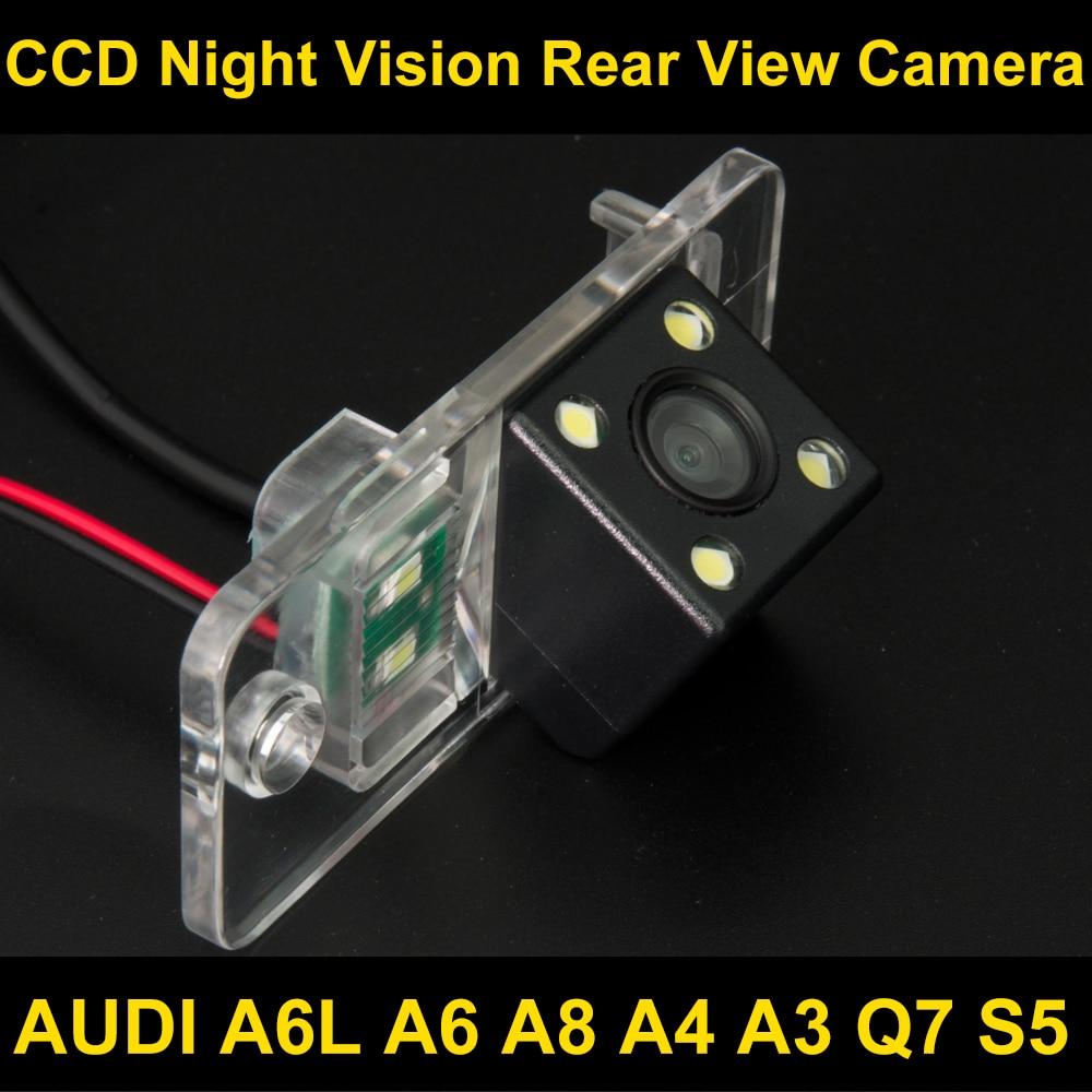 Waterproof 4 LED Car Rear view Camera BackUp Reverse Parking Camera for AUDI A6L A6 A8 A4 A3 Q7 S5 Car reverse camera 8036LED