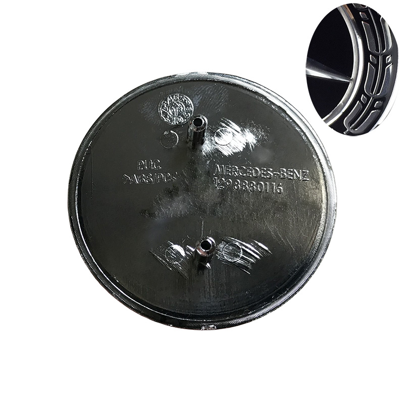 1 PCS Noir Bleu Guirlande 57mm Capot Emblème Badge pour W169 w219 C129 GLK260 GLK300 GLK350 A1298880116