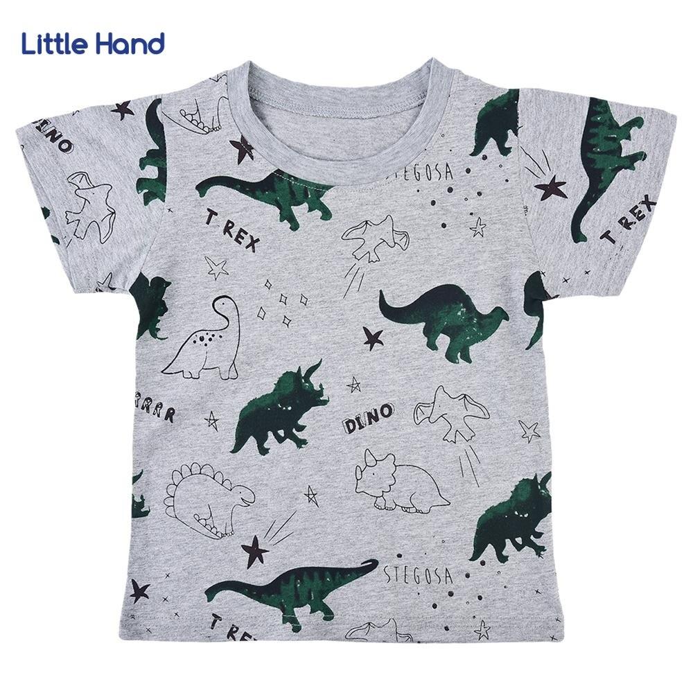 Kids Boys Girls Cotton Short Sleeve Tshirt Dinosaur Print