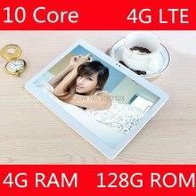Promoción de ventas 10 pulgadas tablet pc 10 Core Ram 4 GB Rom 128 GB Android 7.0 tabletas de Teléfono bluetooth GPS 1920*1200 IPS Regalo de Los Cabritos