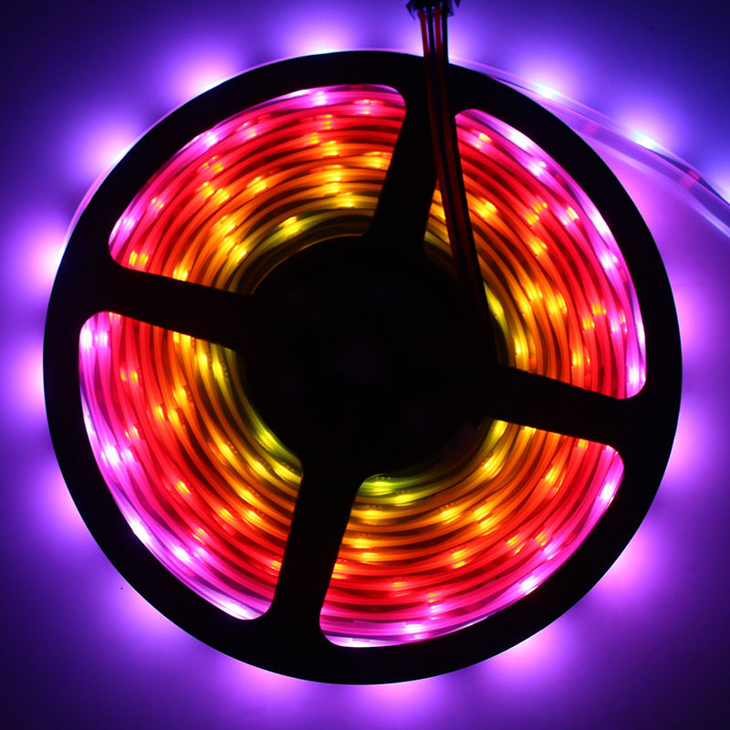 APA102 1m/5m RGB Full Color 30/36/60/96/144 leds/m SMD5050 IP30/IP65/IP67Pixel LED Strip SK9822 backlight tv lights CLK DAT 5V