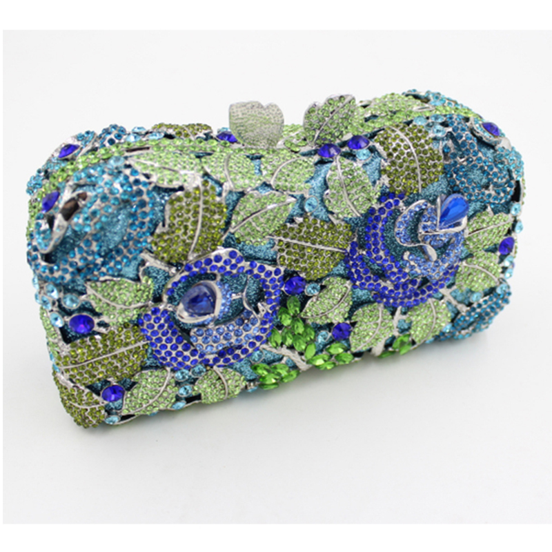Luxe Xiyuan Femmes Soirée Diamant De Bourse light Embrayage Black Sac Main 100 Embrayages Multi À Banquet Parti Sacs blue Blue Lady couleur w70rx0qgd
