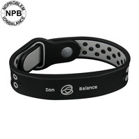 P094 Noproblem Tourmaline Fashion Bangles Ion Balance Sport Power Therapy Health Band Bracelets