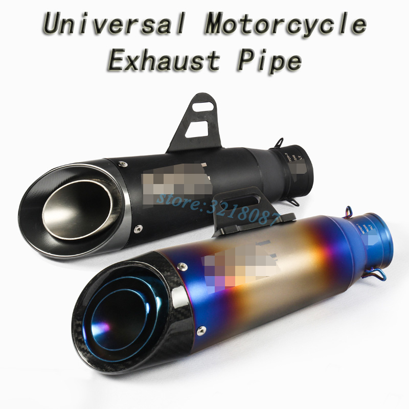 Universal Motorcycle Exhaust Pipe Escape Modified Motorbike Laser Marking 51mm 61mm Muffler For CBR1000RR S1000RR Ninja250 R6 R1
