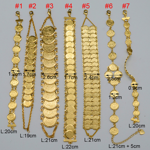 Image 2 - Anniyo Gold Color Money Coin Bracelet Islamic Muslim Arab Coins Bracelet for Women Men Middle Eastern Jewelry African Gifts
