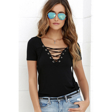Sexy V-Neck Hollow Out Top