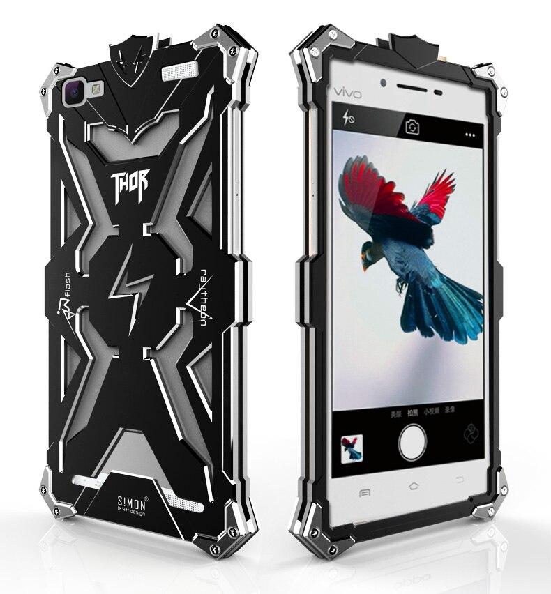 VIVO Y37 <font><b>CASE</b></font> New Original Design Cool Metal Aluminum Armor THOR <font><b>IRONMAN</b></font> protect <font><b>phone</b></font> cover shell <font><b>case</b></font> for VIVO Y37