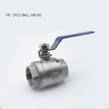 1/4 3/8 1/2 Water Valve  Stainless Steel Ball with Vinyl Handle SS304 Thread Valves