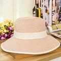 Мода Красивая Взрослых cap Лук Соломенная Шляпка Summer Sun Beach Sun caHat Женщин Девушки caHat вс шляпы для женщин кентукки дерби шляпа