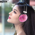 2017 New Headset for young girl Anti-noise Music portable Fashion Earphone with Shiny Crystal DJ Mobile Phone PC Bling headphone