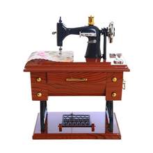 Chinesische Vintage Musik Box Mini Nähmaschine Uhrwerk Power Stil Mechanische Geburtstag Geschenk Home Decor Tabelle a2 30 +