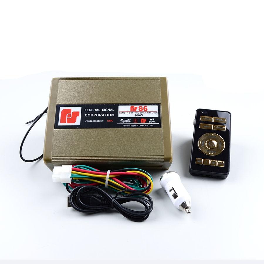 200W 12V S6 Police Siren Automotive Alarm Siren font b Electronic b font Amplifier Louderspeaker Wireless