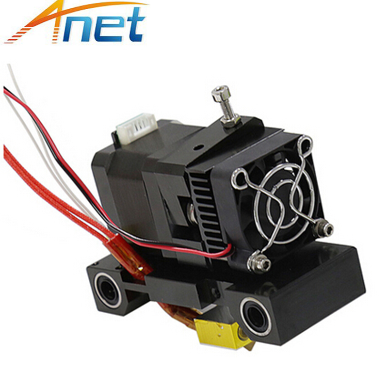 Anet A6 A8 Extruder <font><b>3D</b></font> Printer Head MK8 Single J-head Hotend Nozzle Extrusor <font><b>1.75</b></font>/3mm <font><b>ABS</b></font> PLA Extra Nozzle 42 Step Motor Part image
