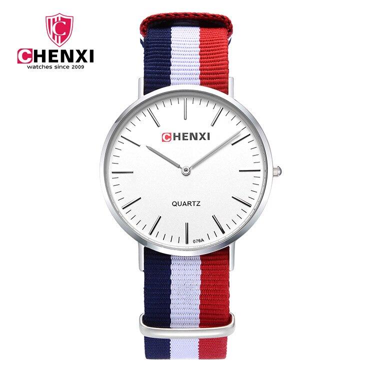 2018 Watch Men Women CHENXI Brand Luxury Fashion Casual Quartz Watches Unique Stylish Watches Nylon Band Sport Wristwatches