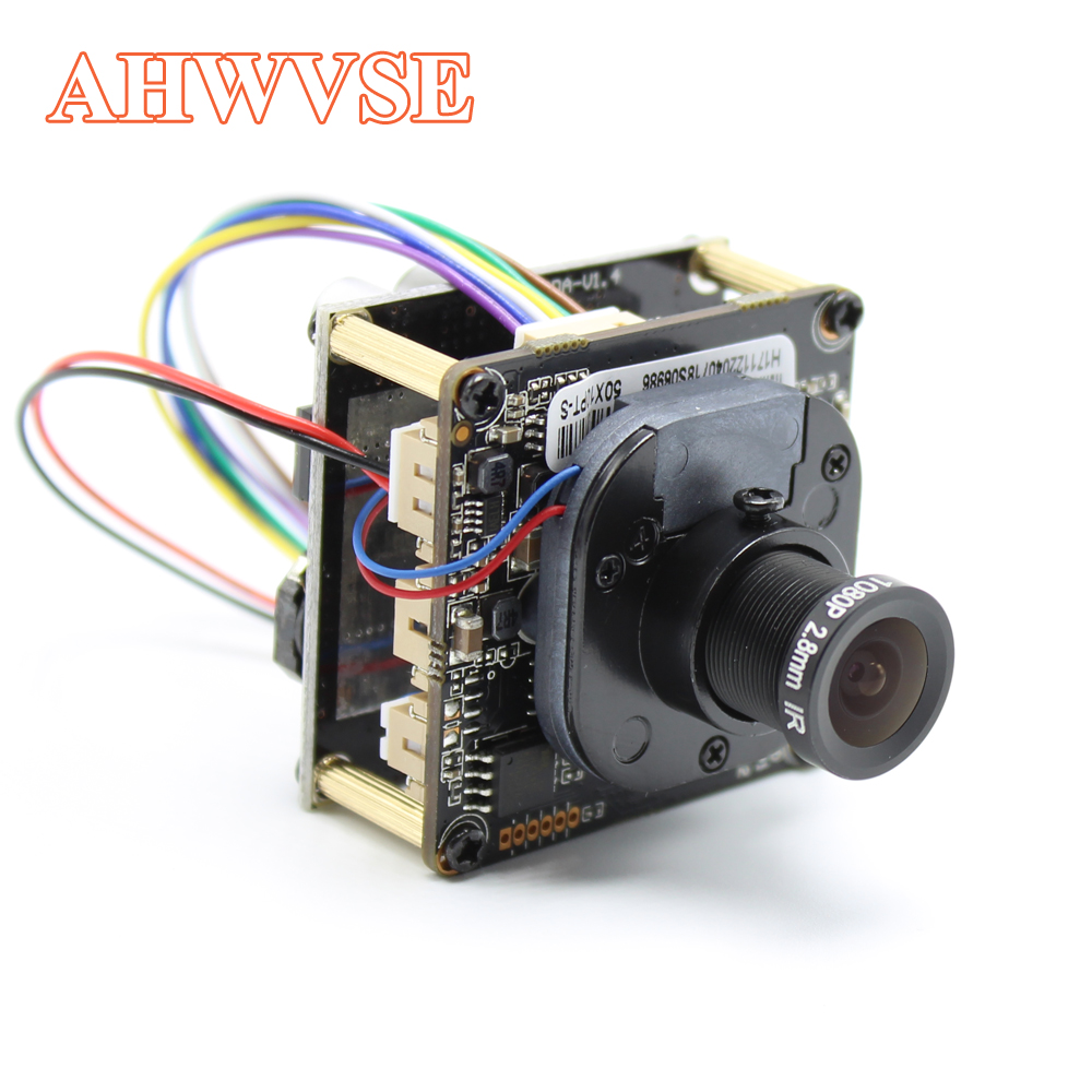 AHWVE H.265 1080P POE IP Camera module Board H.264 Board With lan cable board NVSIP CCTV CMOS Full HD ONVIF P2P h 265 h 264 2mp full hd 1080p high definition cctv ip network camera board module upgrade your ipcam video system poe optional