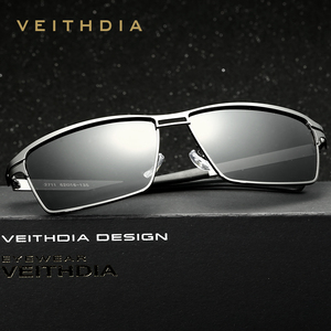 Image 3 - VEITHDIA 2020 גברים של משקפי שמש מקוטב UV400 עדשת שמש משקפיים מלבן נירוסטה משקפיים Eyewear אביזרי עבור גברים