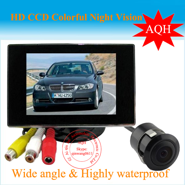 2016 Promotion Selling 4.3 Car LCD Mirror Monitor Kit + Mini Waterproof Car Reversing Camera 170 degree with 6M cable
