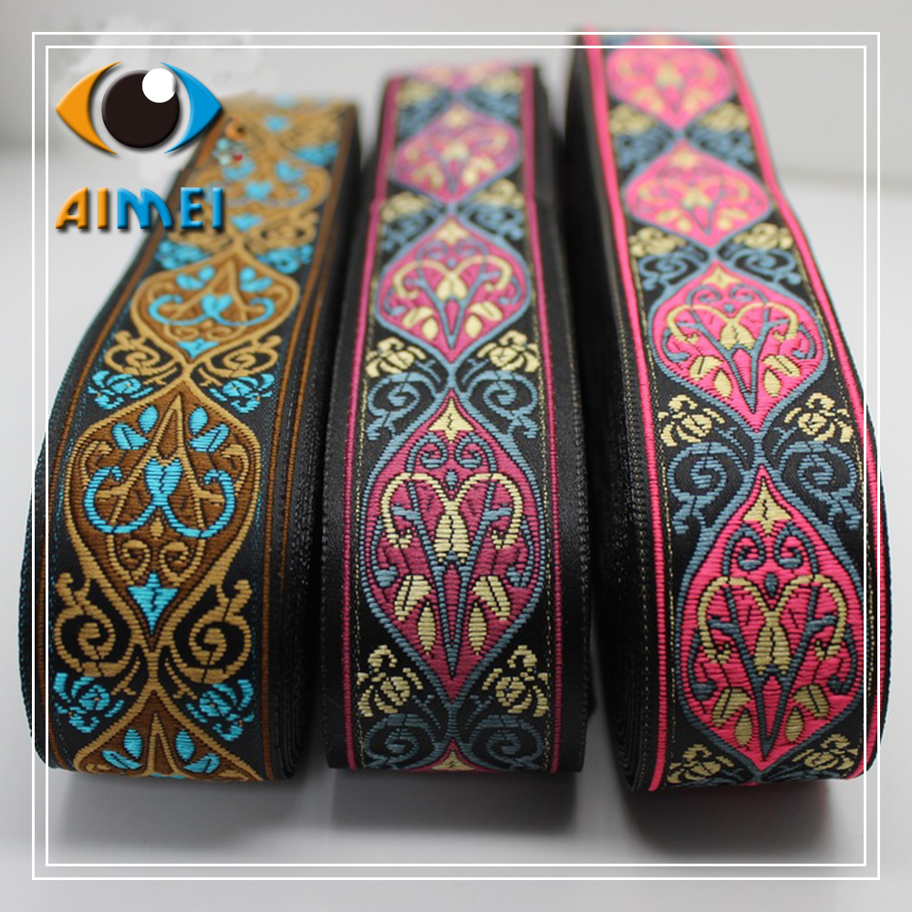 Spot direct DIY hand knitting embroidery national lace ribbon ribbon lace bag Han costume costume accessories